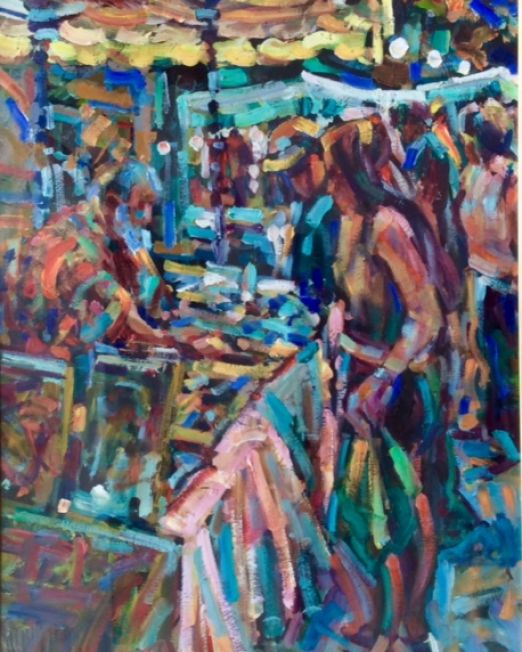 A Maderson A Maderson Market Day Le Vigan 78 x 56 cm oil on board € 4,000
